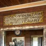 Soda Fountain Confectionary Advertising Sign