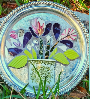 Mosaic Workshop - flowers in a teacup