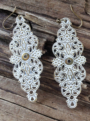 Vintage Filigree earrings handmade by Anni Frohlich