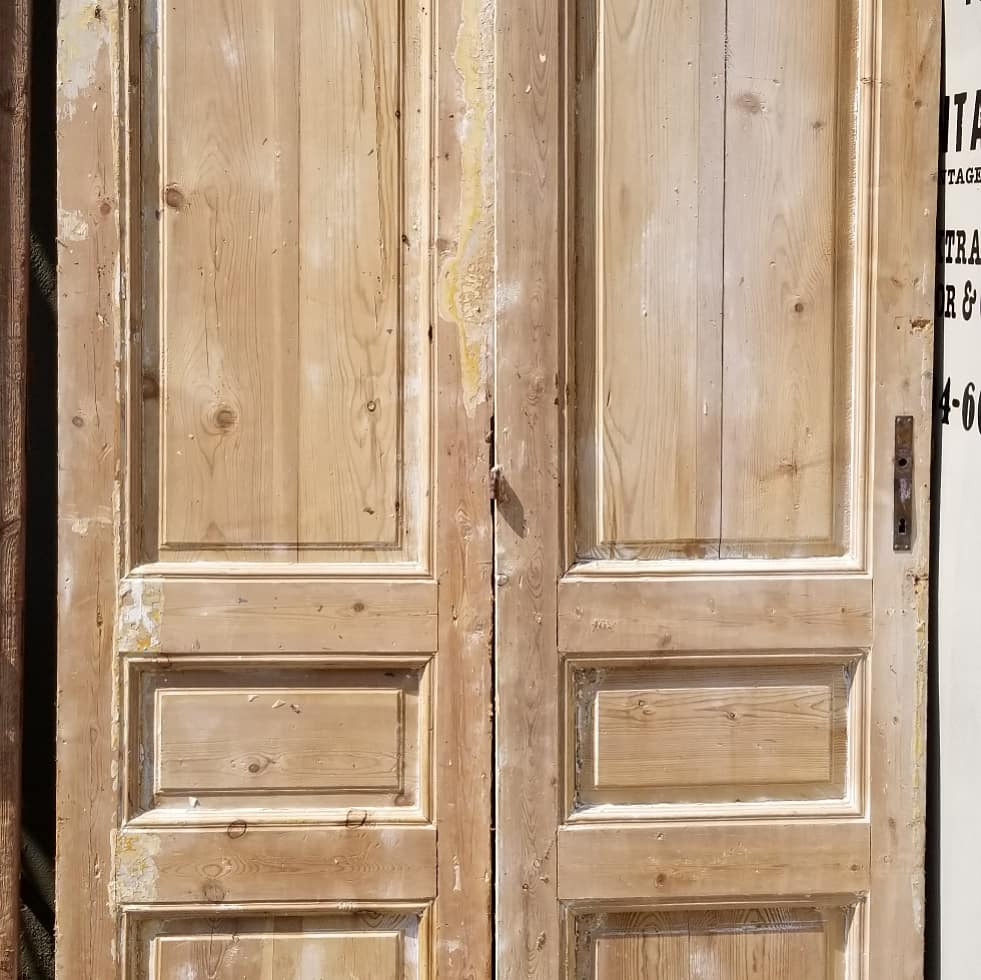 Antique Solid Wood Door Set