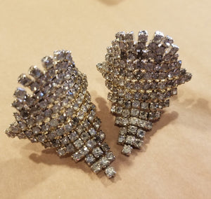 Vintage shoe clip set - large rhinestone