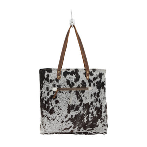 Hairon Front Pocket Bag - cowhide leather by Myra Bag