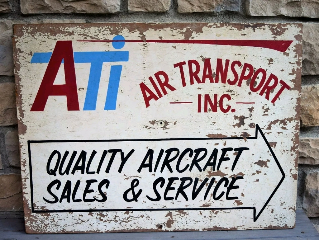 Vintage Aviation Sign