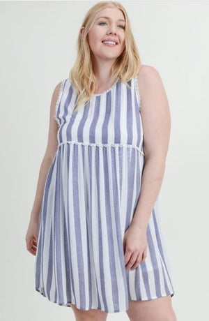 Striped Baby Doll Dress - All sizes