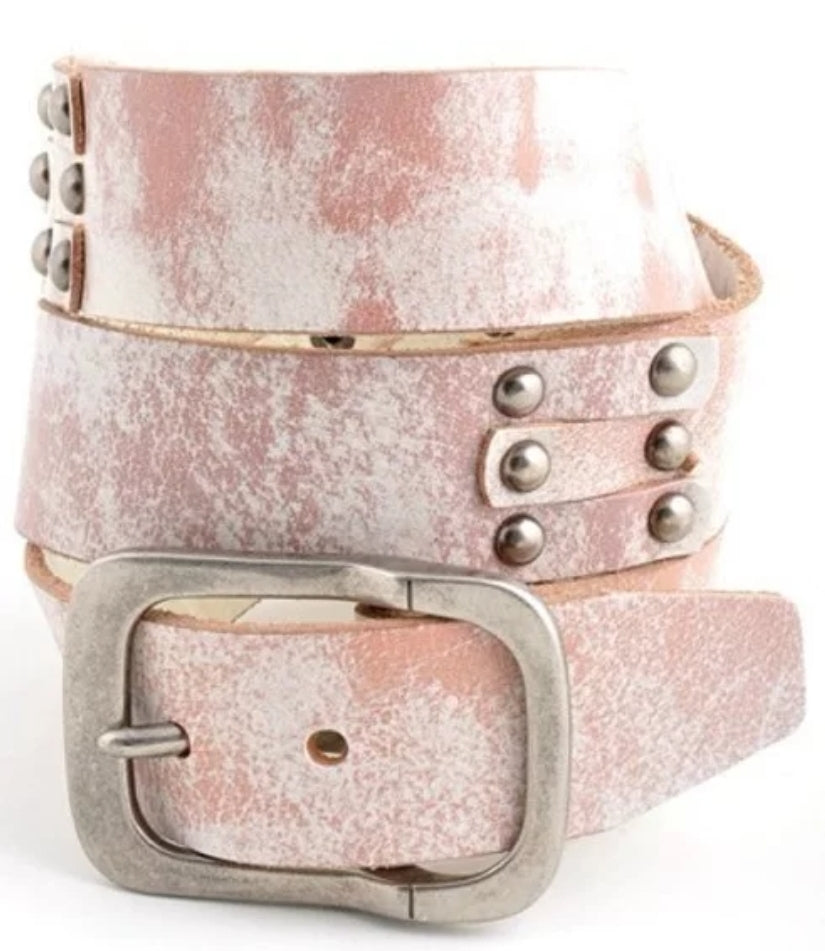 Distressed Genuine Leather Belt