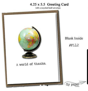 Greeting Card - A World Of Thanks!
