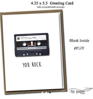 Greeting Card - You Rock mixed tape