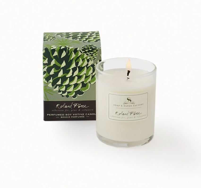 Roland Pine Small Votive Soy Candle
