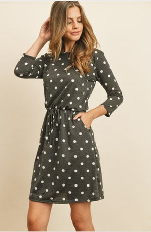 Polka Dot Dress with Pockets