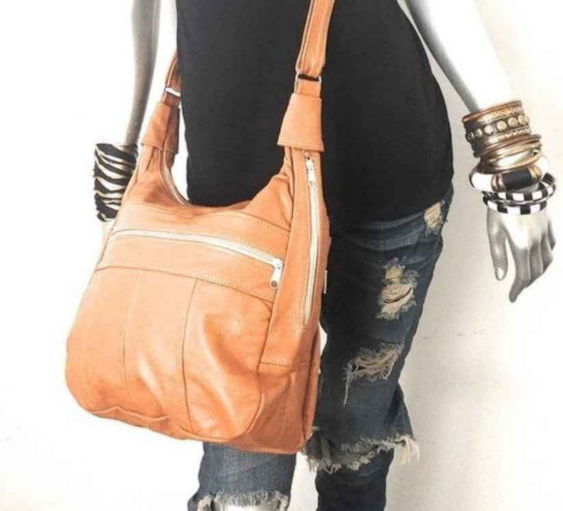 Genuine Leather Large Hobo Bag