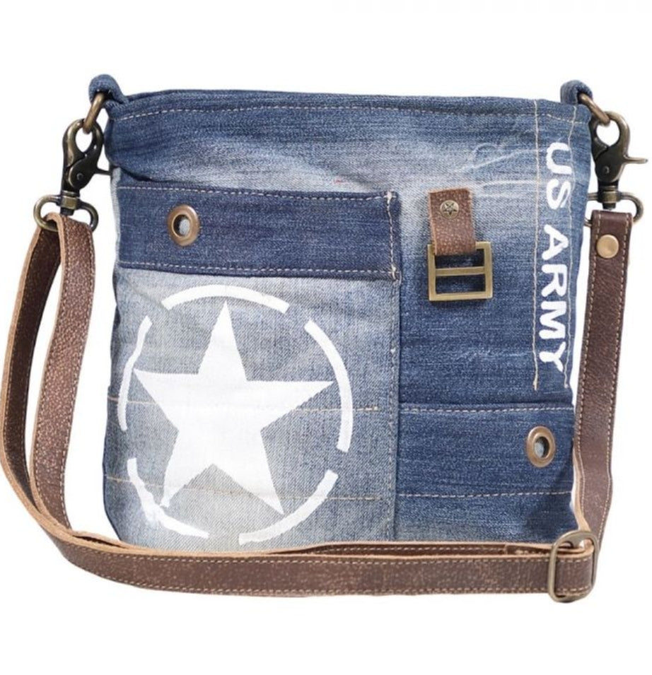 Star Denim Shoulder Bag by Myra Bag
