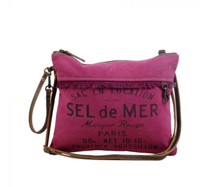 SEL de MER Fuchsia Small & Crossbody Bag by Myra Bag