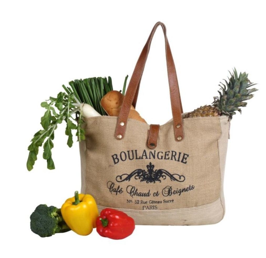 Wholesome Organic Fabric Market Bag by Myra Bag