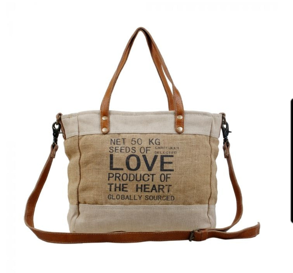 LOVE Sustainable Organic Fabric Market Bag by Myra Bag