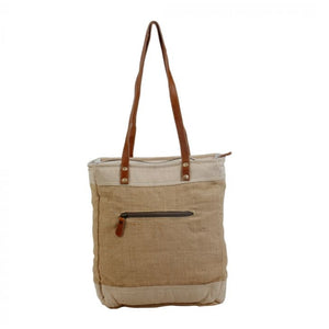 Old School Organic Fabric Market Bag by Myra Bag