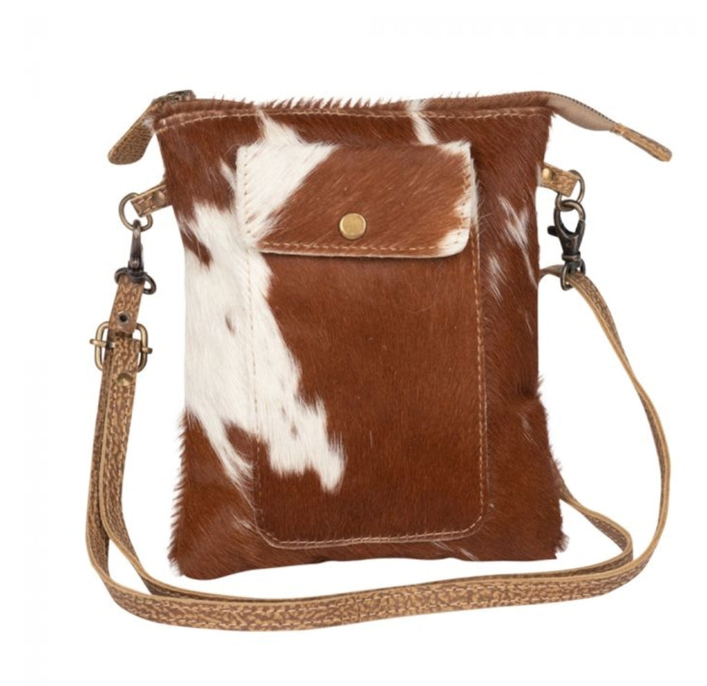 Leather Lithe Hairon Small Bag by Myra Bag