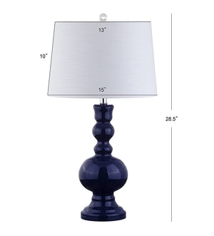 Navy Blue Glass Lamp