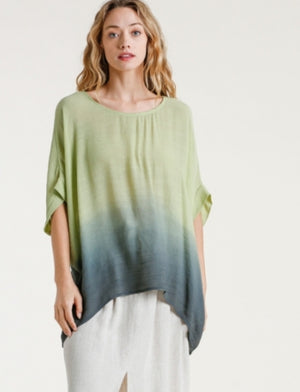 Ombre Doleman Short Sleeve Top