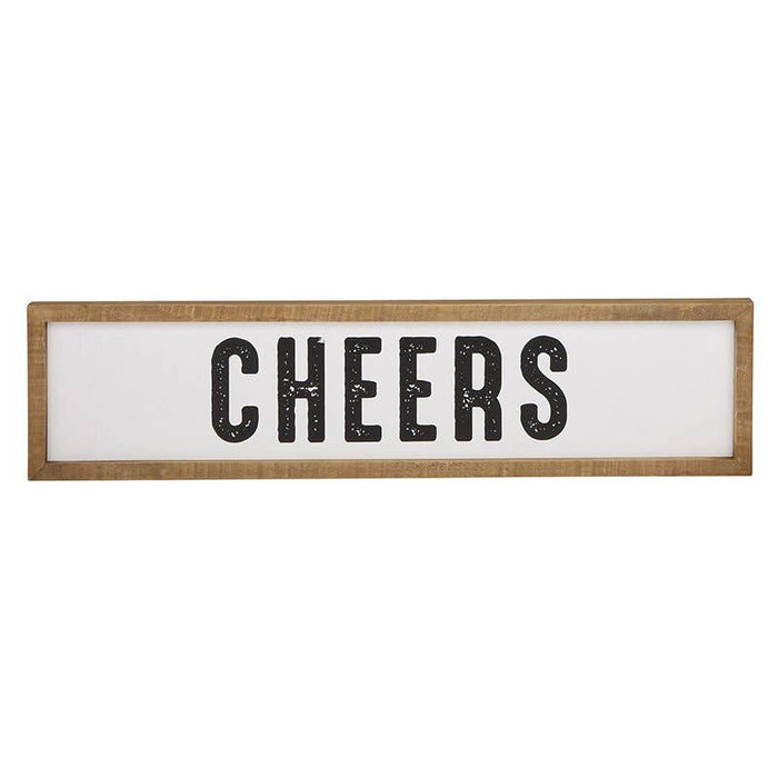 Cheers Wood Frame Sign