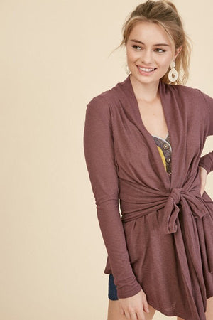 Tie Front Cardigan - multiple colors