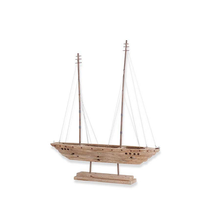 Wood Ship With Double Masts