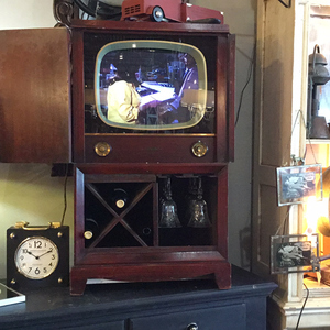 Vintage television bar stand - 1940s