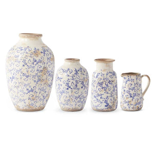 Vintage Blue and White Ceramic Vases and jugs