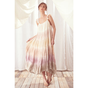 PRE-ORDER Multi-color tie-dye maxi dress