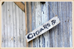Cigars advertisement - metal sign