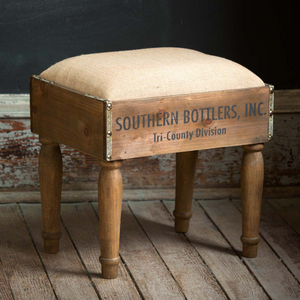 Bottle crate stool