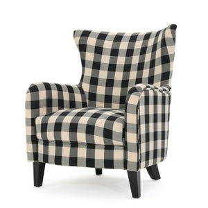 New buffalo check occassional arm chair