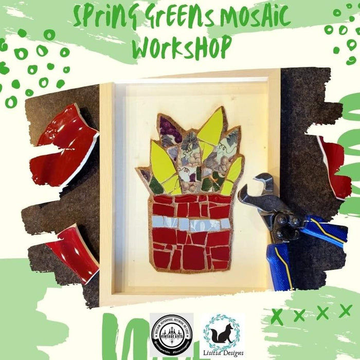 Spring Greens - Mosaic Workshop with Lisitsa Designs