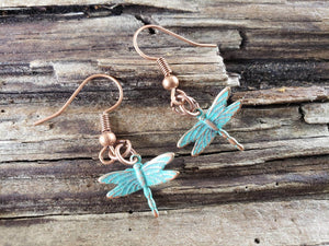 Dragonfly earrings handmade by Anni Frohlich