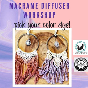 Macrame Workshop - Macrame Car Diffuser