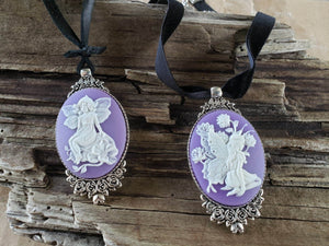Large Fairy Cameo Choker handmade by Anni Frohlich