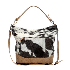 Myra Double Strap Hairon Shoulder Bag - cowhide