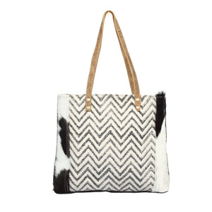 Chevron Cross Design Tote Bag by Myra Bag