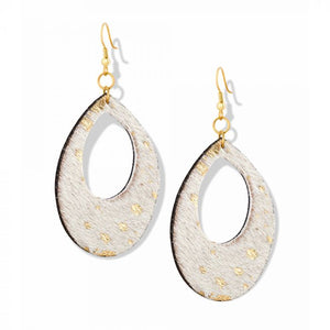 Gold Speckled Leather earrings