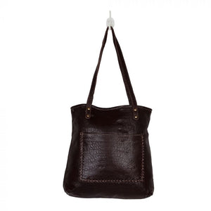 Furred Leather and Hairon Bag - by Myra Bag