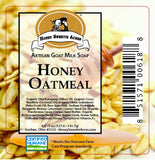 Honey Oatmeal Goat Milk Soap:Honey Sweetie Acres