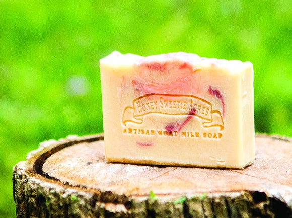 Rose Geranium Goat Milk Soap:Honey Sweetie Acres