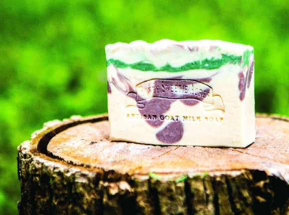 Basil, Sage and Mint Goat Milk Soap:Honey Sweetie Acres