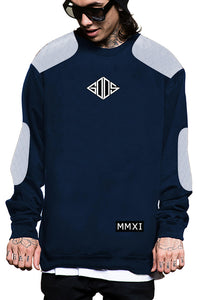 Tailored Quilted Crewneck