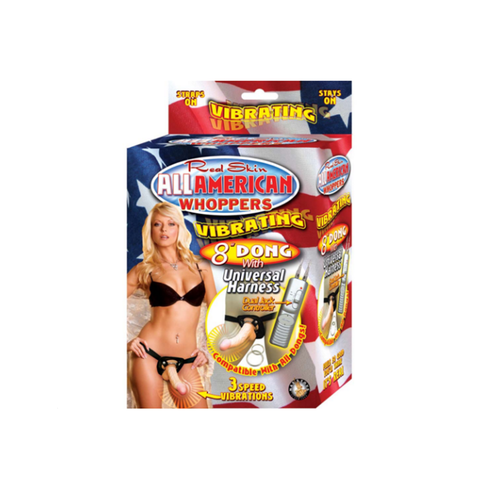 Arnés Vibrador Real Skin All American Whoppers 8""