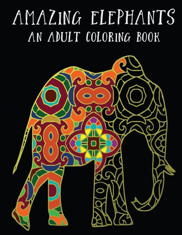Elephant Coloring Book: Digital Delivery