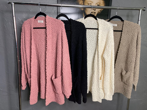 Cozy Popcorn Fall Cardigan