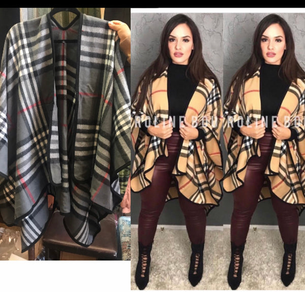 Burberry Inspired Poncho
