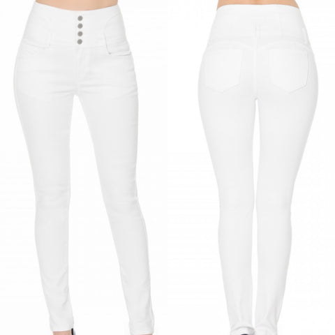 Push Up Butt Lifting Multi Button Jeans