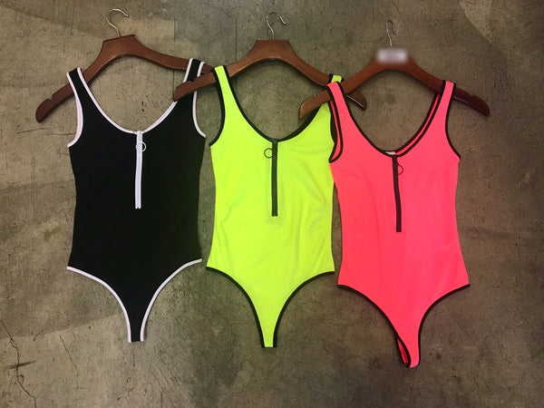 Sporty Zipper Bodysuits