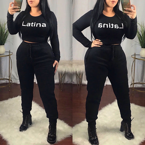 Latina Black Crop Top